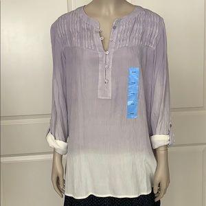 NWT Bandolino Lavender Aura Trudy Ombré Blouse